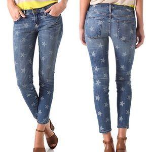 Current Elliot Cropped Skinny Star Denim Jeans 26